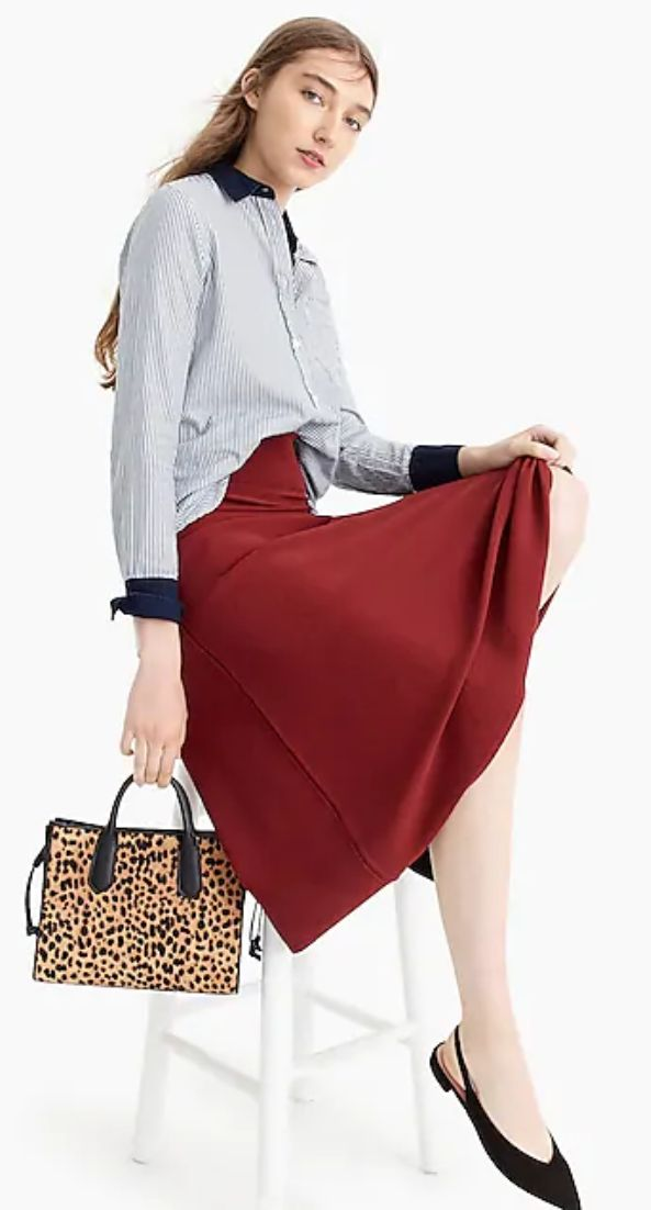 J Crew A Line Midi Sweater Skirt Pretty Fall Dresses For Work Cly