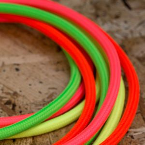 Neon Coloured Fabric Lighting Cable
