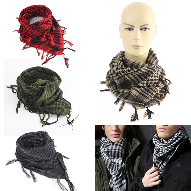 New 100x100cm Tactical Arab Desert Shemagh Scarf Polyester Plaid Printed Scarf Wraps With Tassel Fashion For Men Women #Affiliate