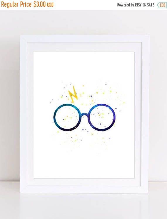 60%OFF harry potter glasses harry potter art watercolor