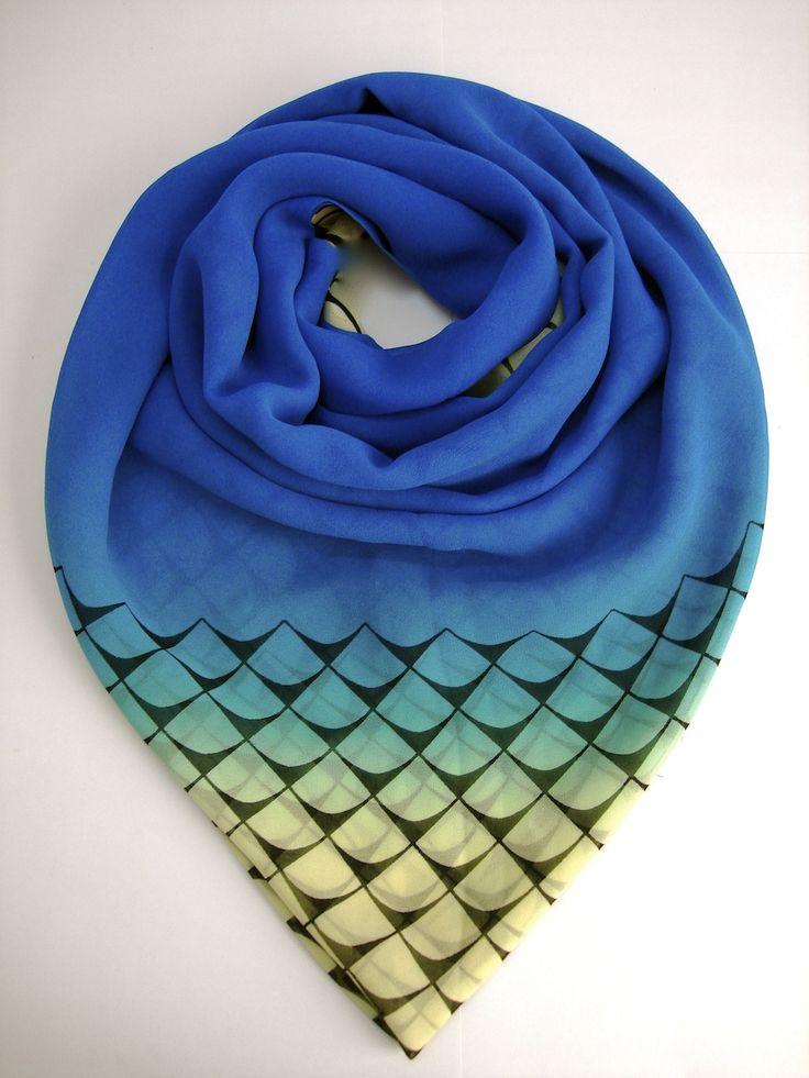 Anchor Blue Scarf