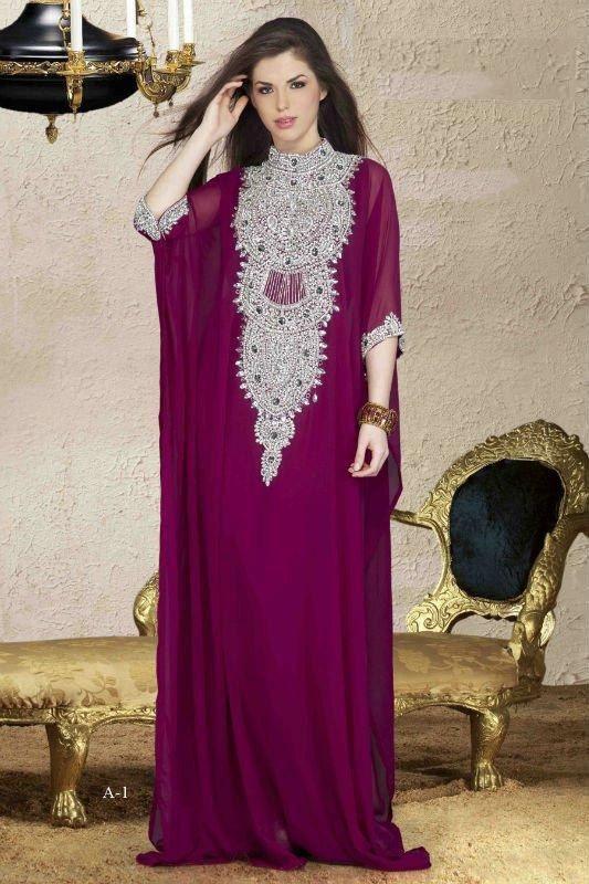 Very Fancy dubai Kaftan/Abaya/jalabiya ladies maxi dress REALL CRYSTAL WORK. $189.99, via Etsy.