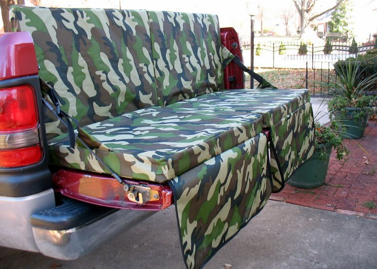 Tailgating with your truck? You must have this foldable truck bed couch!  #UltimateTailgate #Fanatics