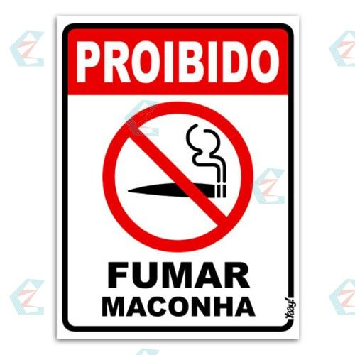 Placa Divertida Proibido Fumar Maconha | Garimpo Do Zé