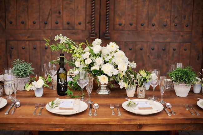 italian tablescape + bottle table numbers