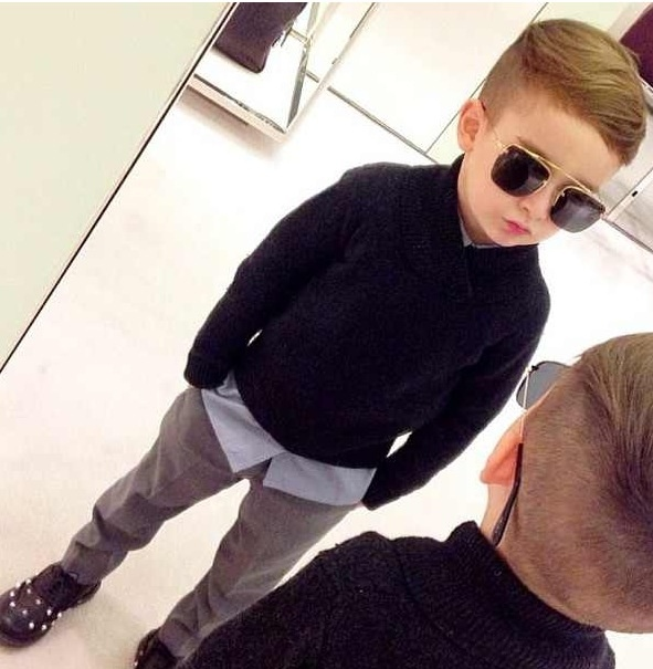Kids fashion! What a cool dude!