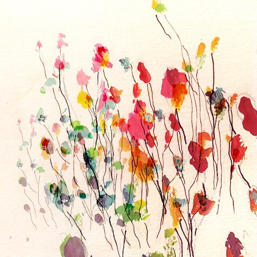 Splatter flower painting @Meagan Lawrence  could be cute for ms d to do for Christmas presents