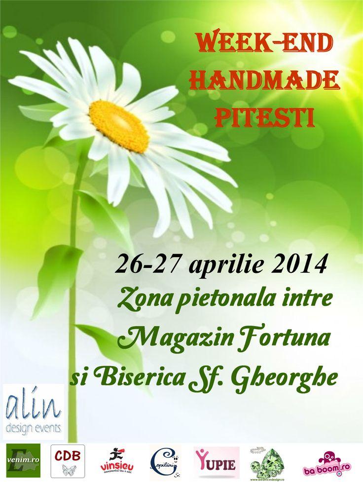 Targ Pitesti - Weekend Handmade - 26-27 Aprilie 2014