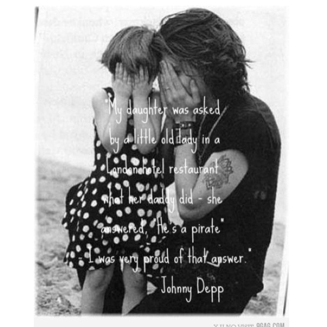 Looove me some Johnny Depp!! This is too cute!