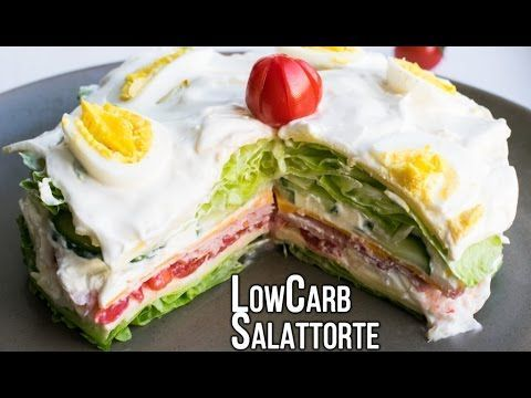 Low Carb Salattorte – super delicious & extremely easy!  I'd sub mayo for yogurt