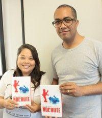 """Anderson Fernandes e Débora Kaoru autores do livro """"Nocaute"""" . A dupla, que lançou em 2014 o livro """"Entre Quatro Poderes"""", que tinha a política como """"pano de fundo"""", agora disponibiliza uma obra literária que terá a discussão da maioridade penal como um dos temas centrais."""