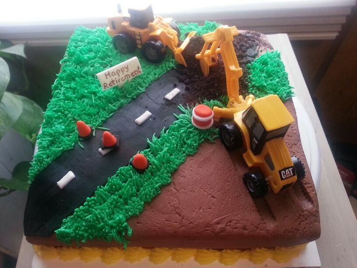 Road Construction Cake Cakes Pinterest Road
