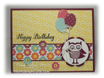 ~~Heart's Delight Cards~~: Delight Cards, Cards Occa, Crafts Happy, Owl Occasion, Happy Birthday Cards, Heart Delight, Occa Cards, Cards Su, Owl Happy Birthday