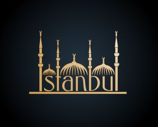 """ISTANBUL"" Logo design by Vector Frenzy  #Logo #Design #Istanbul #City Available for sale:http://brandcrowd.com/logo-design/details/100026"