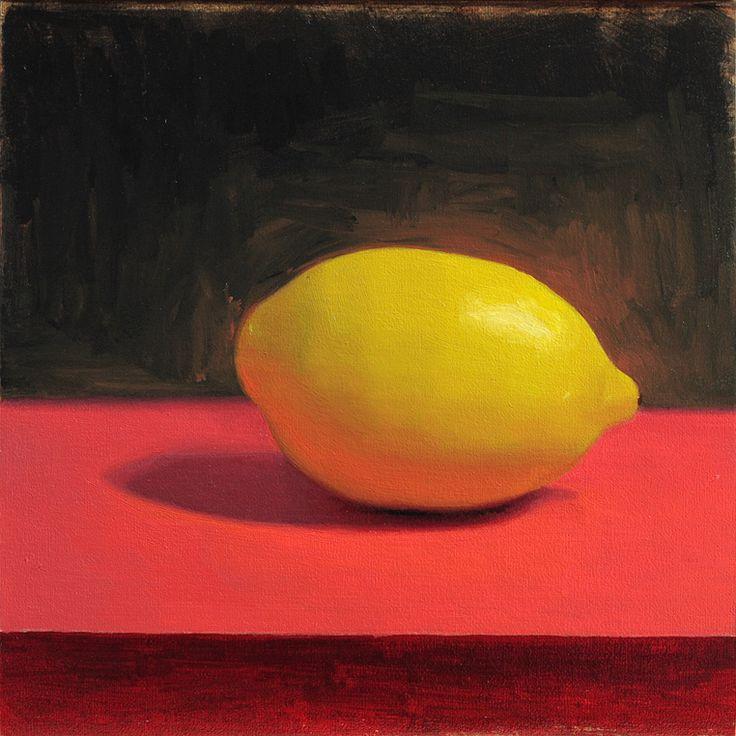 Lemon on red