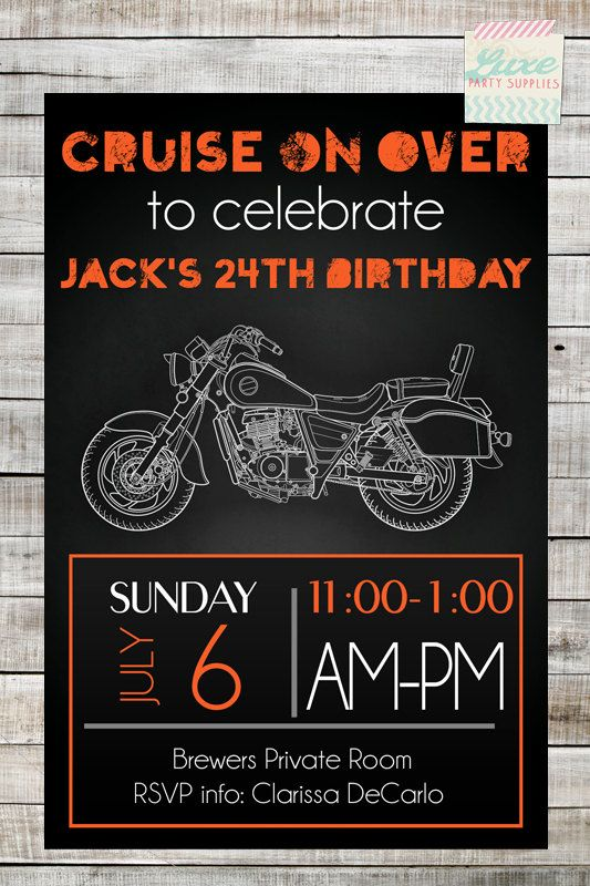 17 Best ideas about Motorcycle Birthday Parties 2017 – Motorcycle Party Invitations