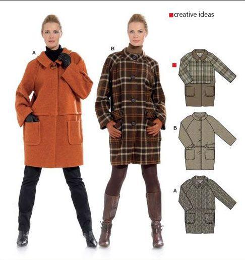 выкройка прямого пальто без воротника - Поиск в Google