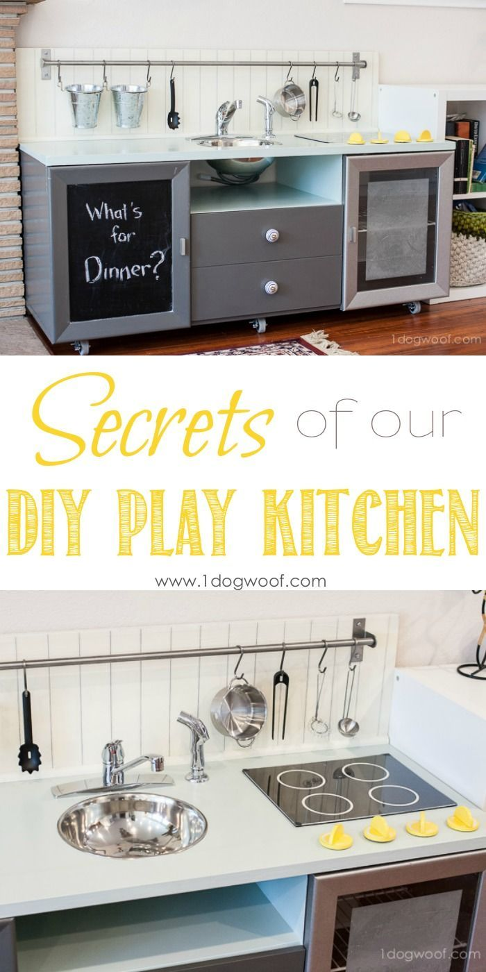 Secrets of how we built our diy play kitchen for under $90   www.1dogwoof.com