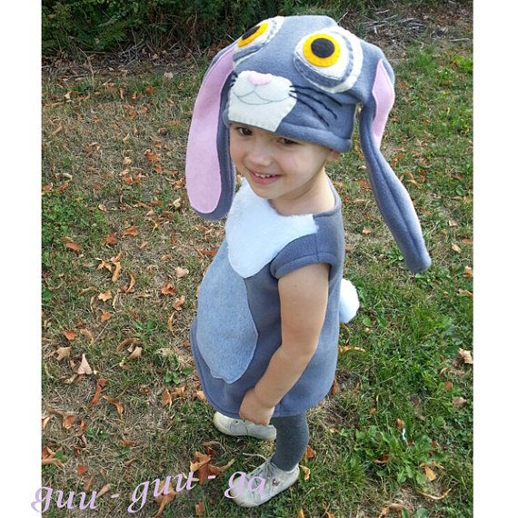 Sophie the first bunny costume grey for baby toddler by GuuGuuGa