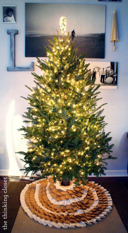 No Sew Ruffle Christmas Tree Skirt 18 best