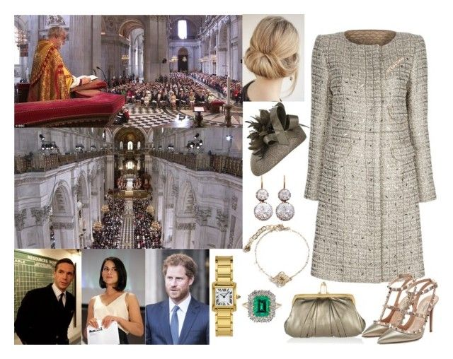 """""""Miss Magdalena Winter and her fiancee Prince Harry of Wales attend the  Service of Thanksgiving in Honour of the King's 40th Birthday"""" by annaschoko007 ❤ liked on Polyvore featuring Canterbury, Goat, Chloé, Valentino, Christian Louboutin, NERIDA FRAIMAN and Vera Bradley"""