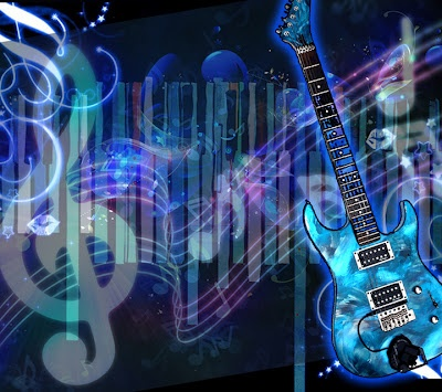 Cool Blue Black Music Background. By: Hika Almighty