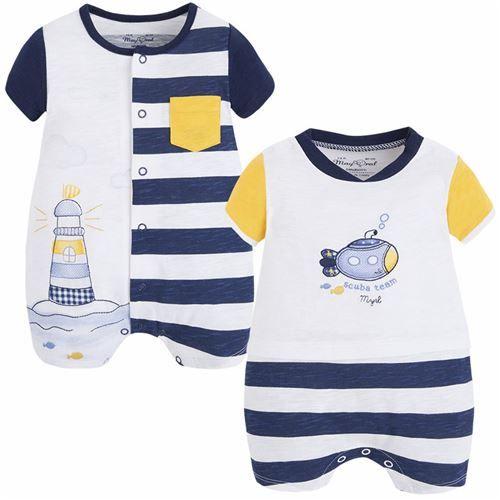 Mayoral Erkek Bebek Yazlık Kısa Tulum 2li Set Koyu Mavi