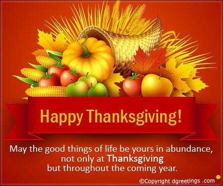 Thanksgiving Wishes..!