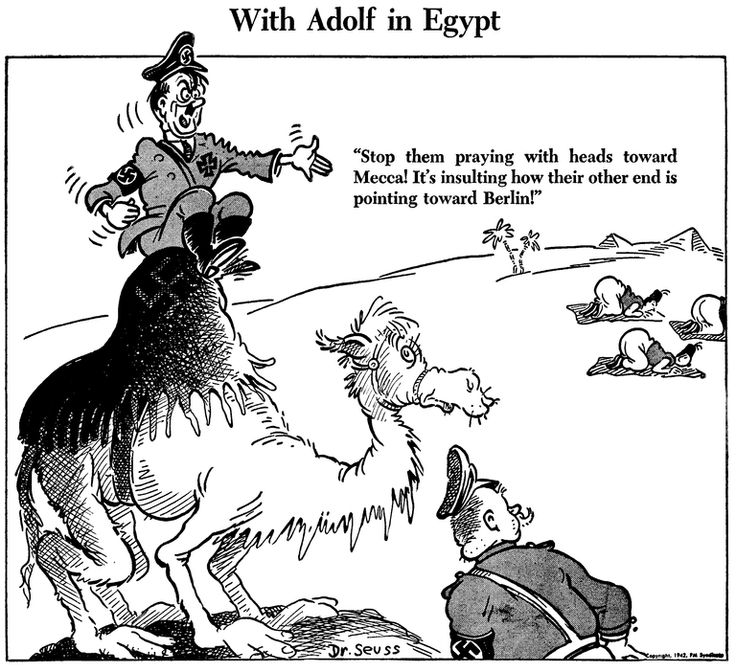 With Adolf In Egype Dr Seuss Political Cartoon July 4 1942