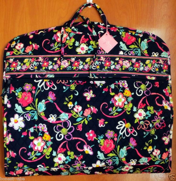 NWT VERA BRADLEY Garment Bag Ribbons pattern for Breast Cancer