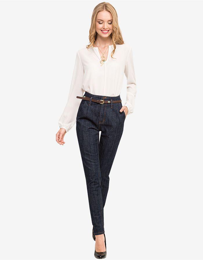 Джинсы Harem jeans с кожаным ремнем - Глория Джинс, GJN004584 | Gloria Jeans