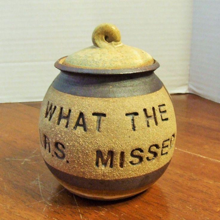 "Adult Money Jar, Money Jar, Money Bank, ""What The IRS Missed Jar"", Ceramic Money Jar, Savings Bank, Savings Jar With Lid, Money Container by BeautyMeetsTheEye on Etsy"
