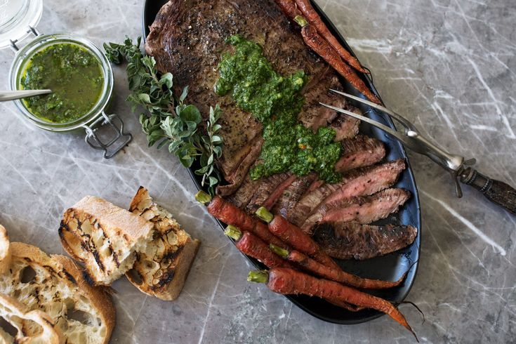 This acidic herb-based sauce looks similar to pesto and is originally from Argentina. It is traditionally served on top of meat or fish but I love to dip sliced ciabatta bread in the extra chimichurri sauce.