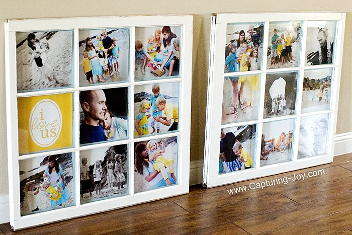 Vintage Window as Picture Frames @Capturing-Joy.com via @Capturing Joy with Kristen Duke Photography LOVE THIS!!!