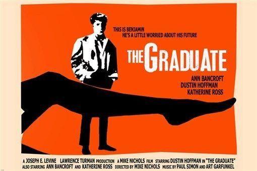 classic THE GRADUATE movie poster DUSTIN HOFFMAN ANN BANCROFT sexy 24X36 - YW0