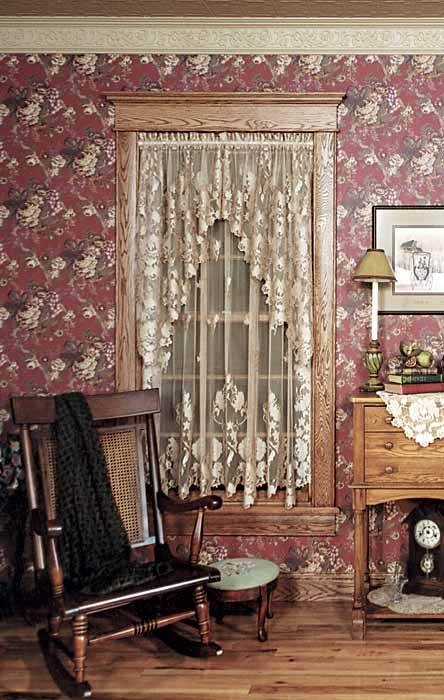 White Windsor Lace Window Curtains From Victorian Trading Co.