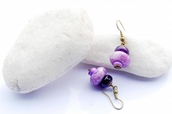 Amathyst earrings