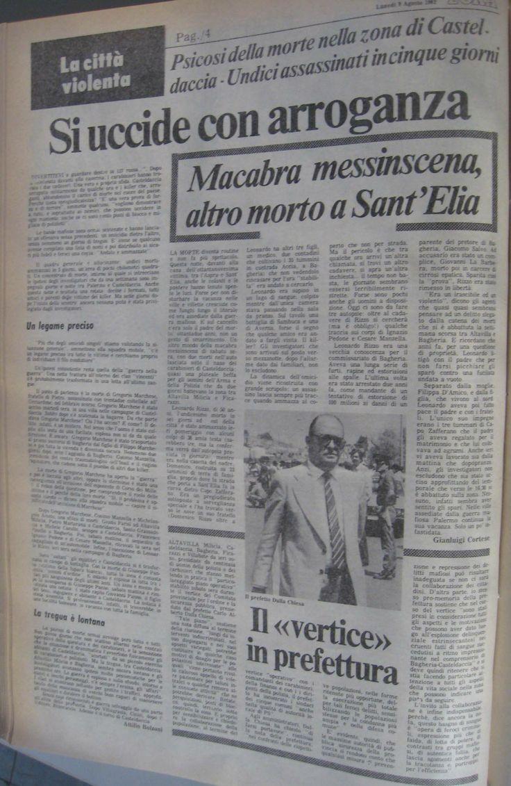 9 agosto 1982, L'Ora, pagina ii