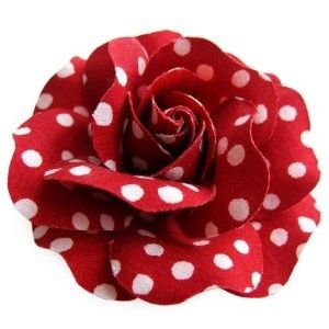red flower dots