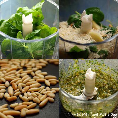 Å lage pestoen selv er egentlig veldig raskt gjort, og smaker så uendelig mye bedre enn bortekjøpt pesto…