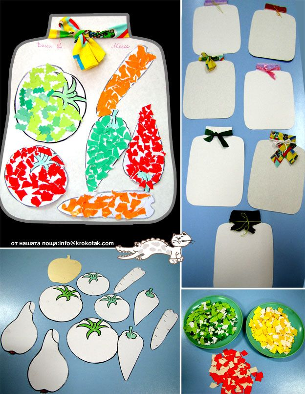 veggie torn paper craft