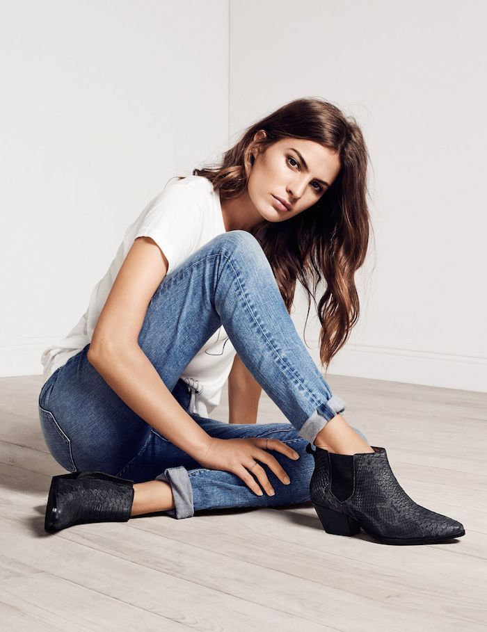 Dustjacket attic // Cameron Russell H&M 2015// denim and ankle boots casual style