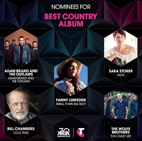 2016 ARIA Nominations have been announced and the Best Country Album goes too...  Country Music News  www.workingbull.com.au