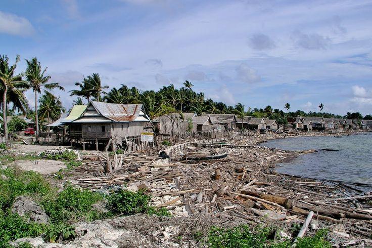 Ostrov Selayar západní pobřeží ostrova po období dešťů