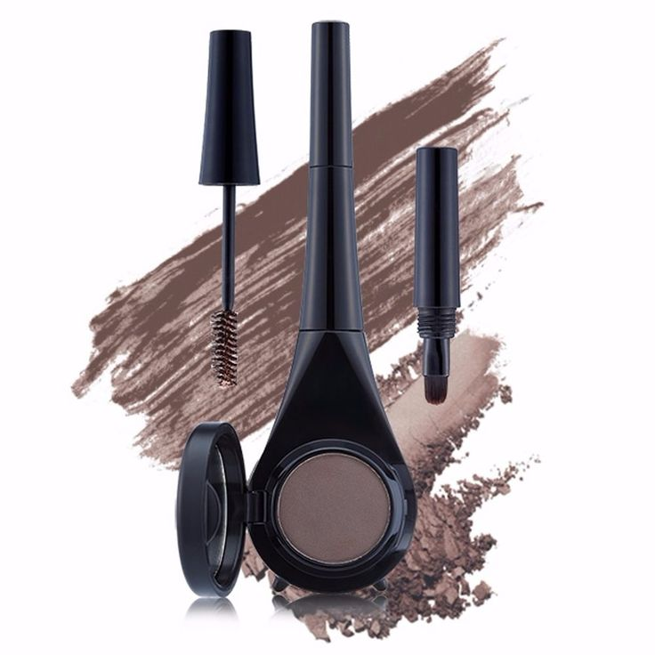 OSEQUE Showking Dual Eyebrow Multi Eye Kit Mascara Shadow Dark Brown #OSEQUE