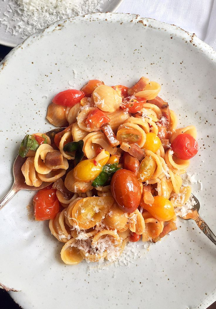 Orecchiette with Pancetta and Tomatoes Recipe