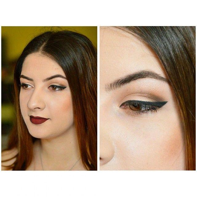 Black eyeliner, darkred lips #makeup #foundation #macfoundation #macstudiosculpt #lipliner #essencelipliner #redlipliner #morphecosmetics #morphegirl #jhpalette #jaclynhillpalette #morphepalette #darklips #eyeliner #naturalamakeup