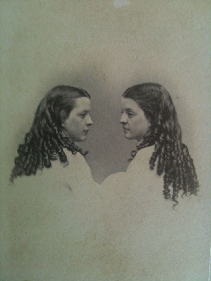 1860s Girls With Curls American Victorian Photography