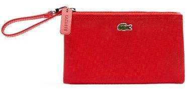 Lacoste Womens L.12.12 Concept Zip Clutch Bag in High Risk Red O/S US