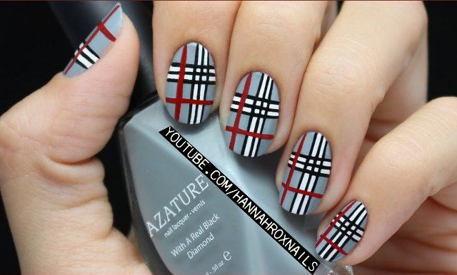 Plaid Nail Art - Nail Art con fantasia ‪#‎tartan‬ ‪#‎nailart‬ ‪#‎fashion‬ ‪#‎moda‬ ‪#‎unghie‬
